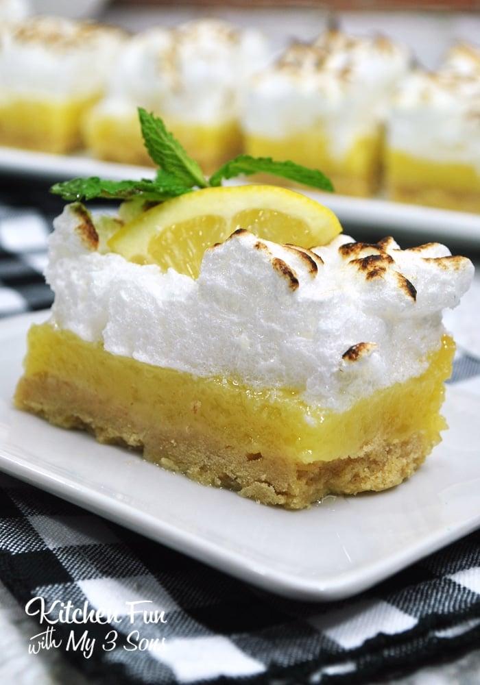 Boozy Lemon Bars