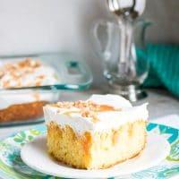 Caramel Toffee Poke Cake