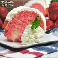 Strawberry And Cream Bundt Poke Cake