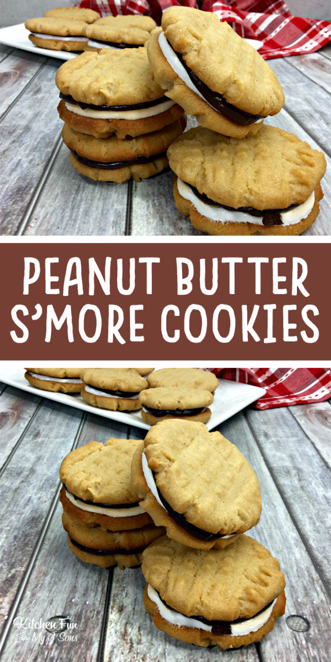 Peanut Butter S'mores Sandwich Cookies - Best S'mores recipes