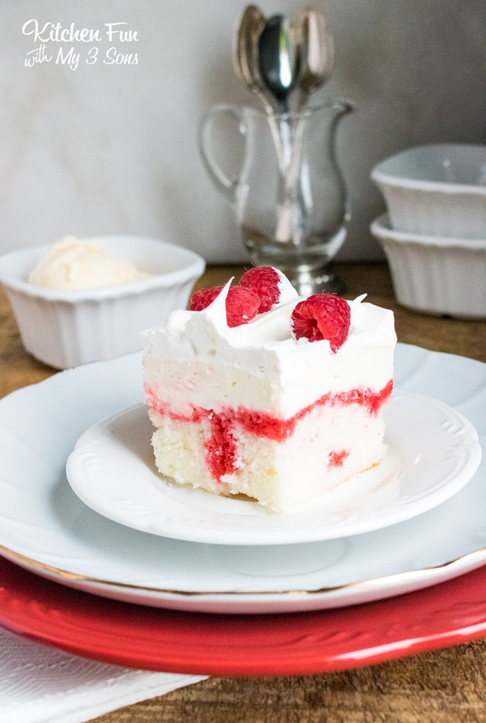 Raspberry Cheesecake Poke Cake