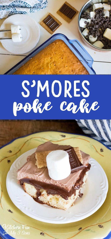 S'mores Poke Cake