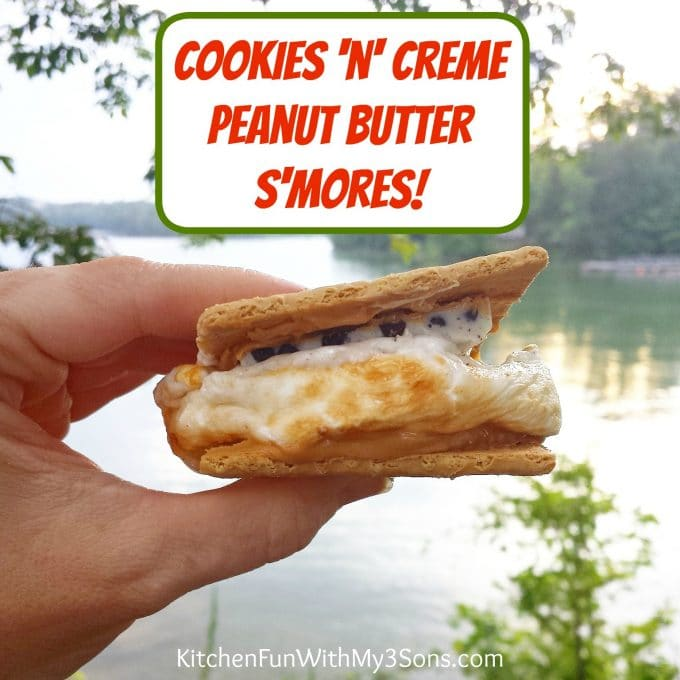 Cookies n Creme Peanut Butter S'mores - Best S'mores Recipes