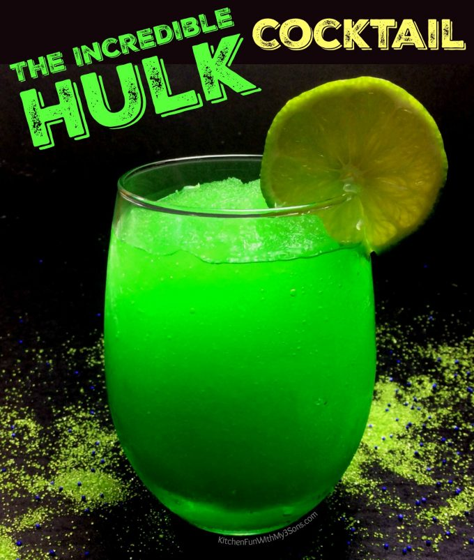 Incredible Hulk Cocktail - Over 40 of the BEST Summer Cocktails!