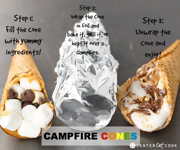 Campfire Cones - Best S'mores Recipes