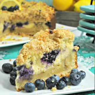Lemon Blueberry Cream Cheese Crumble Cake