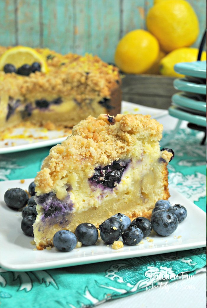 Lemon Blueberry Cream Cheese Crumb Cake