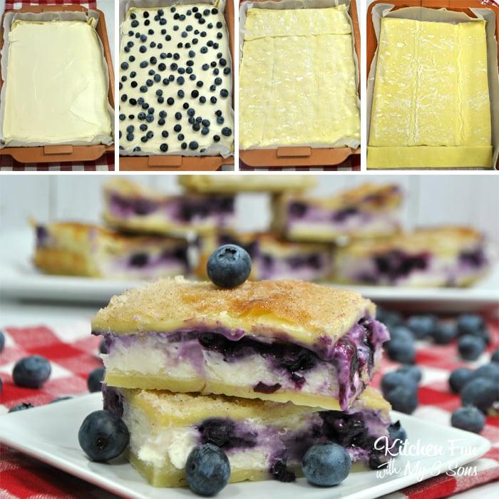 Sopapilla Blueberry Cheesecake Bars