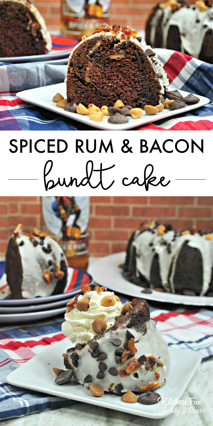 Spiced Rum Bacon and Chocolate Bundt Cake