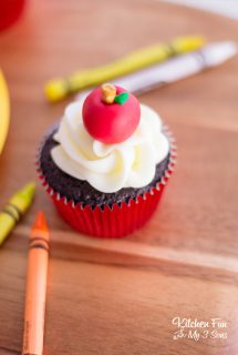 Apple Cupcakes – Back to School