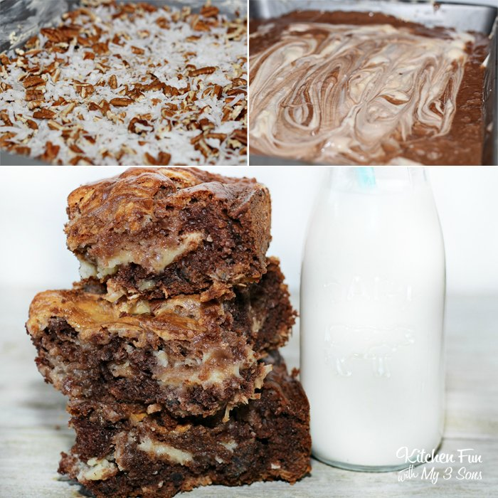 EASY German Chocolate Cake Cheese Cake Bars