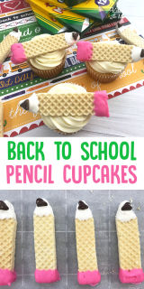 Pencil Cupcakes for Back to School