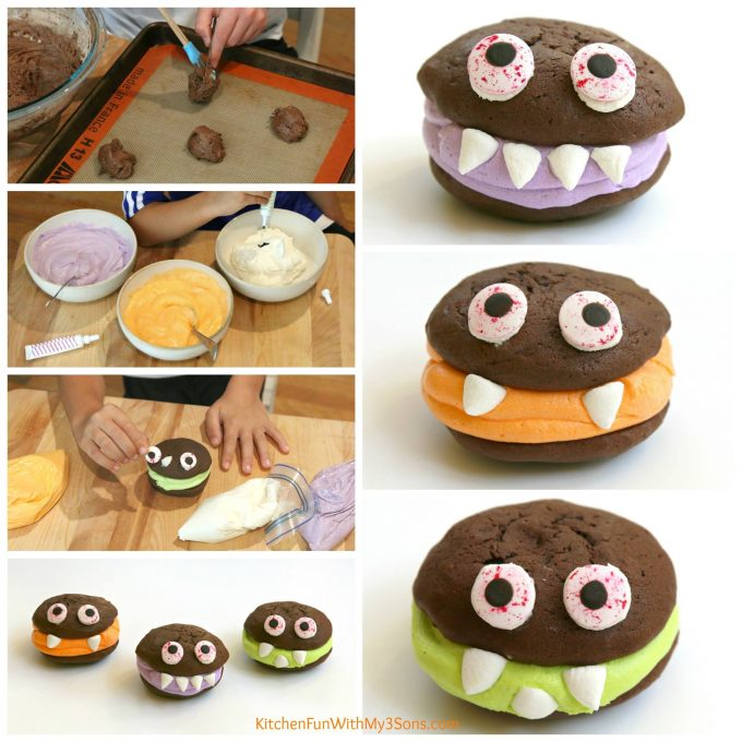 Monster Sandwich Cookies - BEST Halloween Treat Ideas