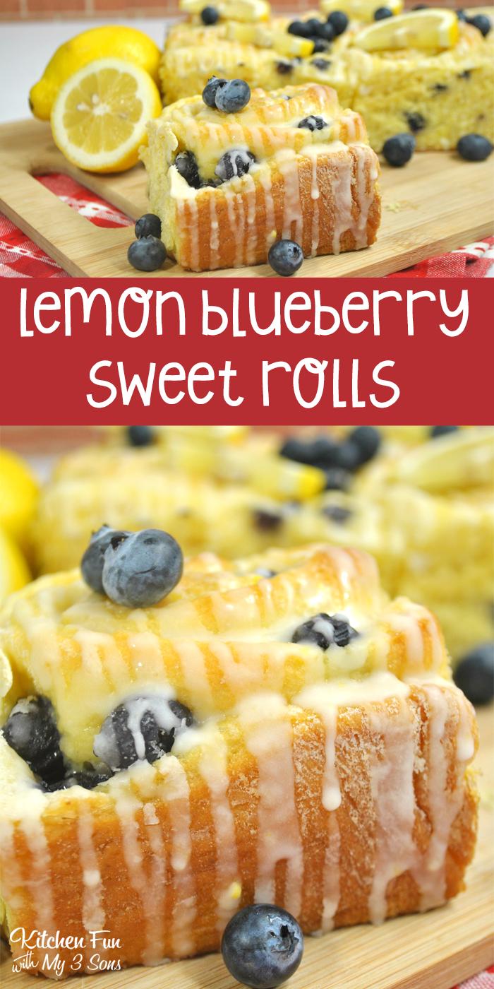 Lemon Blueberry Sweet Rolls