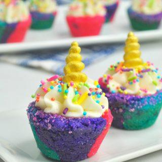 Unicorn Sugar Cookie Cups