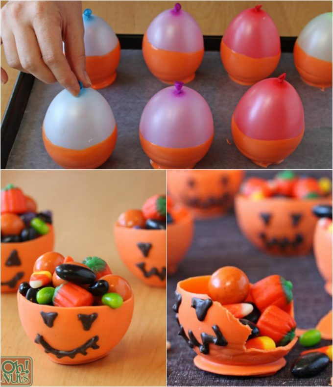 Edible Halloween Candy Bowls - BEST Halloween Treat ideas!
