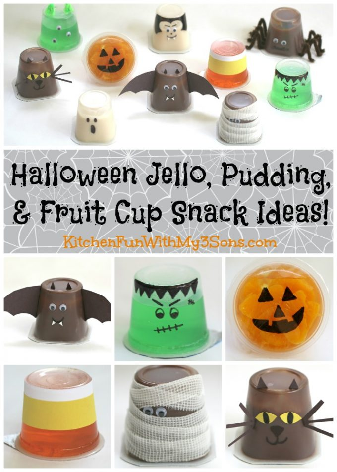 Halloween Jello and Pudding Cups - BEST Halloween Treat ideas!