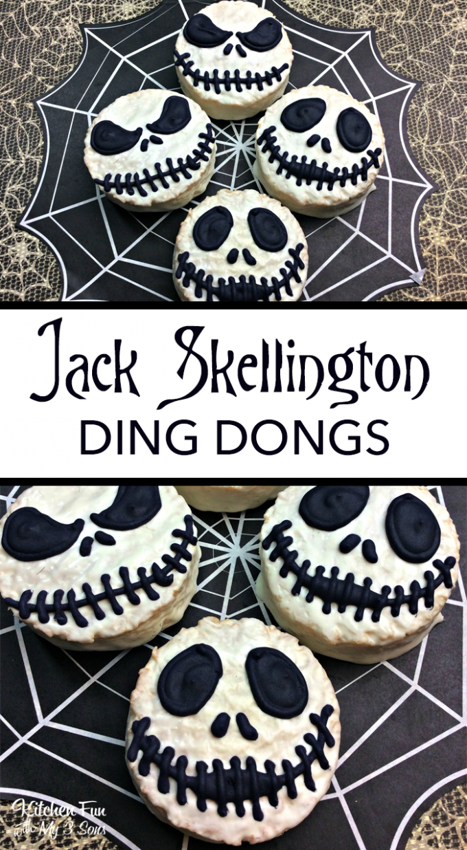 Jack Skellington Ding Dongs - BEST Halloween Treat ideas!