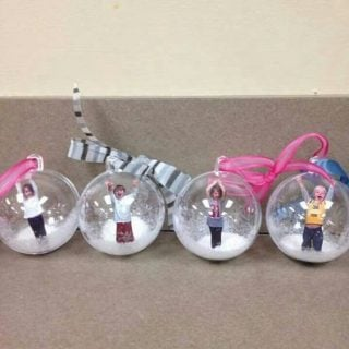 Snow Globe Photo Ornaments
