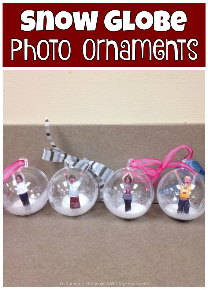 Christmas Snow Globe Photo Ornaments