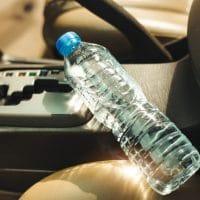 Firefighters Warn against Plastic Water Bottles in left in Cars