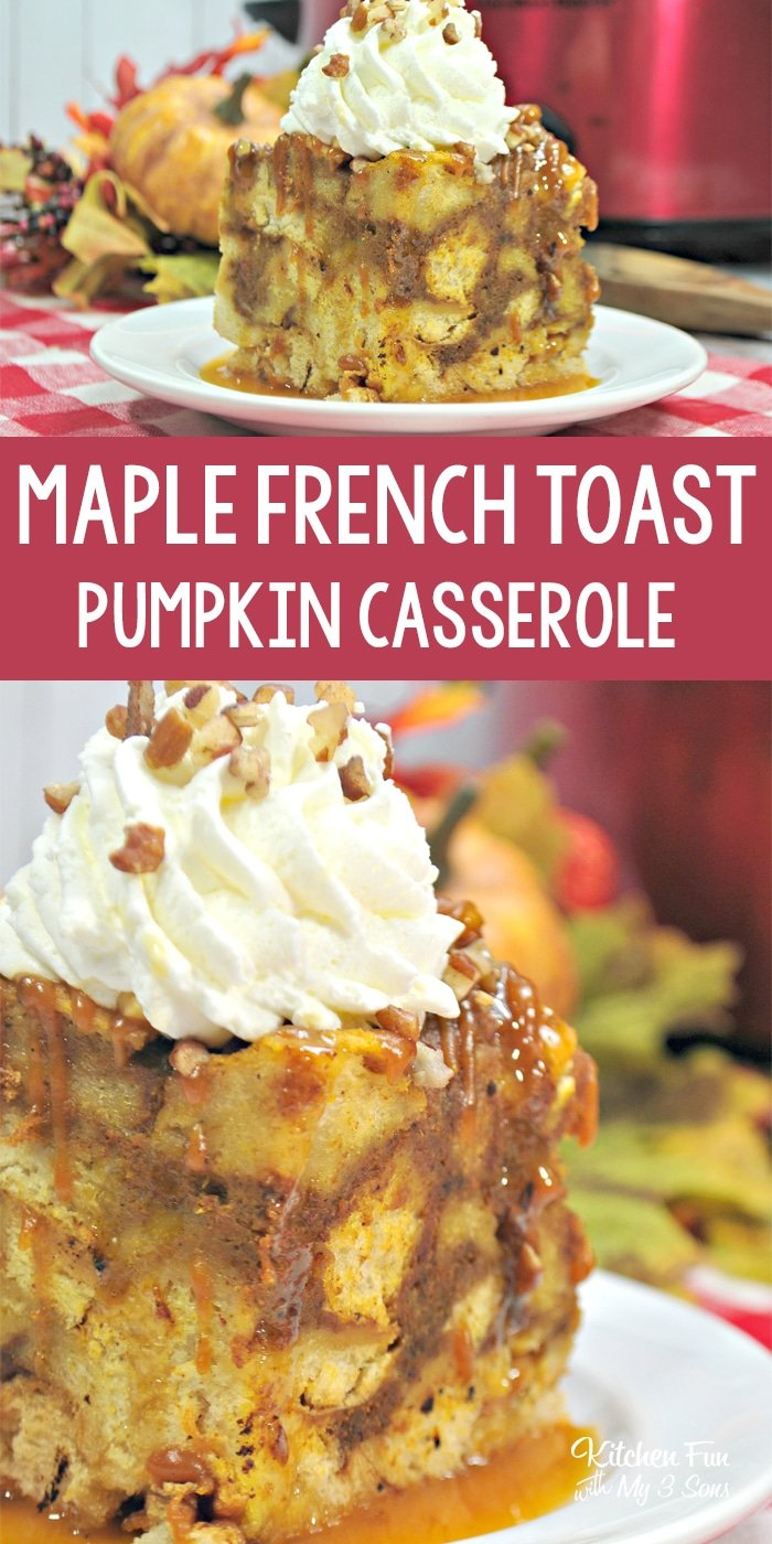 Slow Cooker Pumpkin Maple French Toast Casserole