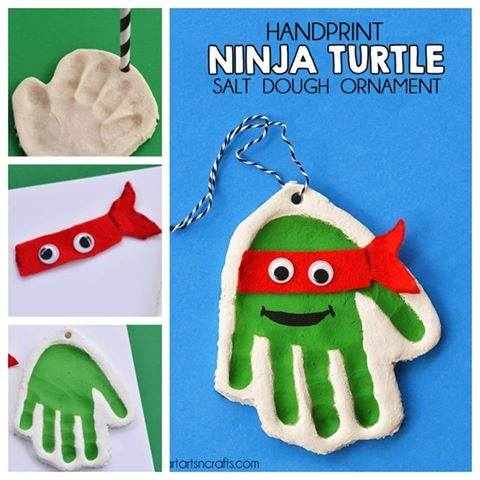 Ninja Turtle Salt Dough Ornaments - Over 30 of the BEST Christmas Salt Dough Ornaments