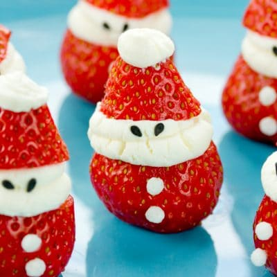 Strawberry Cheesecake Santas for Christmas!