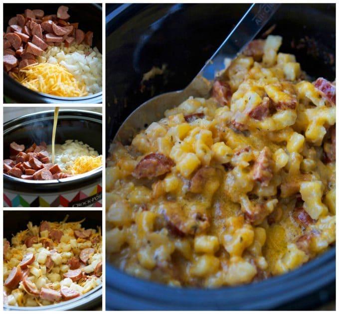Crock pot Sausage and Hash Brown Casserole