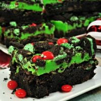 Grinch Brownies | Yummy Christmas recipe for our favorite holiday movie The Grinch