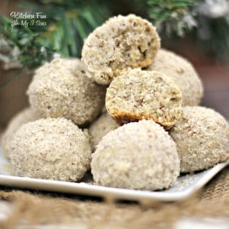 Pecan Ball Cookies | This Christmas cookie recipe is a pecan lovers dream!