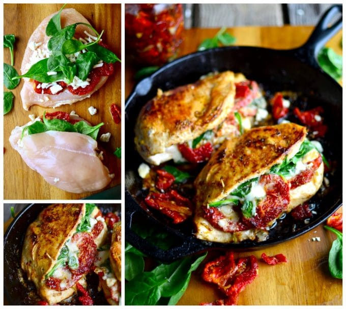 Sundried Tomato, Spinach and Cheese Stuffed Chicken - Over 30 of the BEST Keto Recipes
