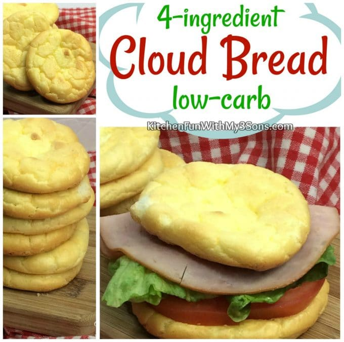 Keto 4-ingredient Cloud Bread