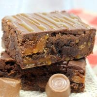 These Rolo Brownies are the things dreams are made of! Filled with rich caramel sauce and actual Rolo candy, you are going to fall in love with these.
