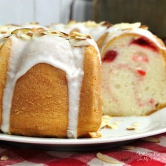 This Cherry Almond Bundt Cake recipe has a rich almond and vanilla flavor and loaded with delicious maraschino cherries. It's a great dessert for any occasion.