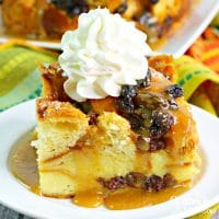 Irish Croissant Bread Pudding is a delicious dessert for St. Patrick's Day. The flaky croissants soaked in a delicious sauce and whiskey.