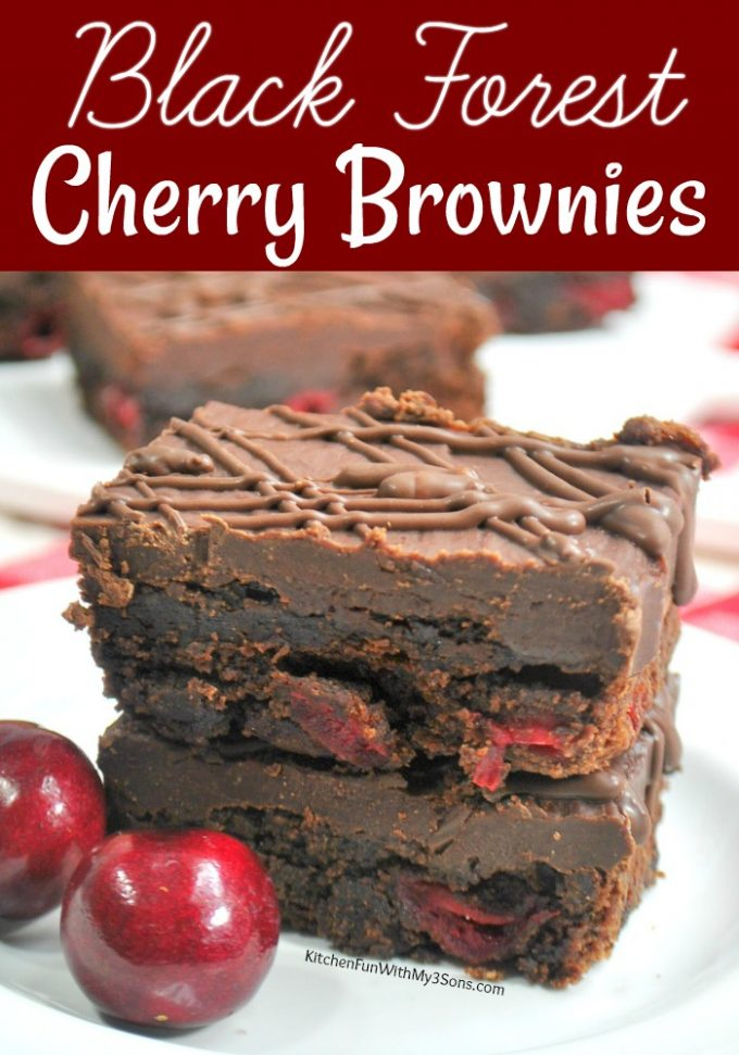 Black Forest Brownies with Cherries