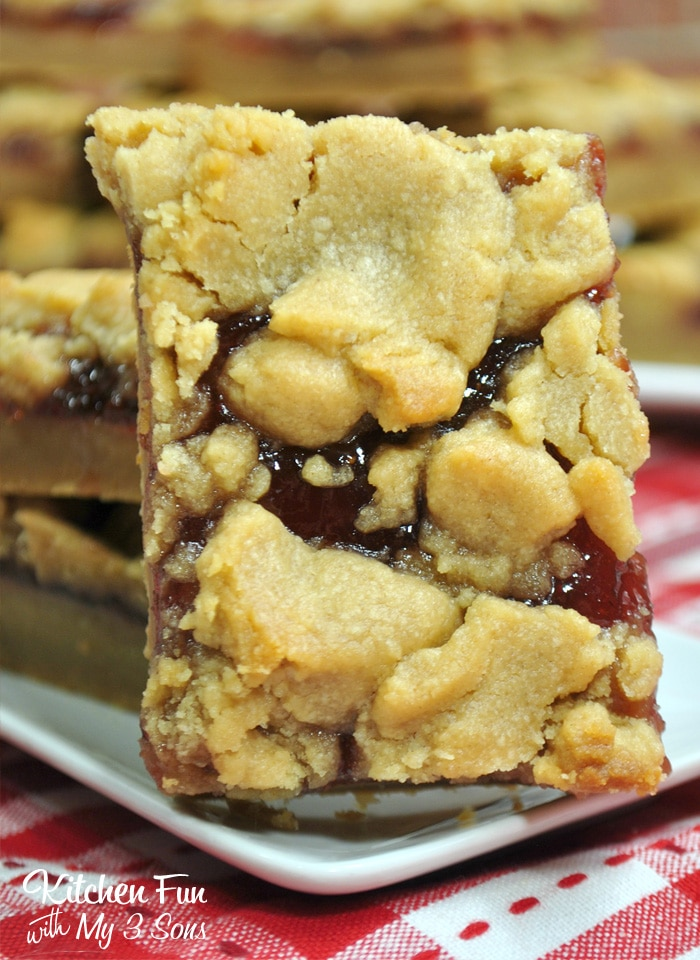 The Peanut Butter and Jelly Bars recipe below is so yummy.