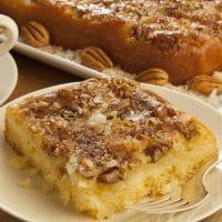Southern Upside-Down Pecan Cake