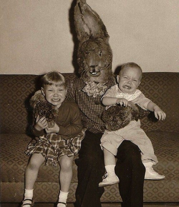Vintage Creepy Easter Bunnies