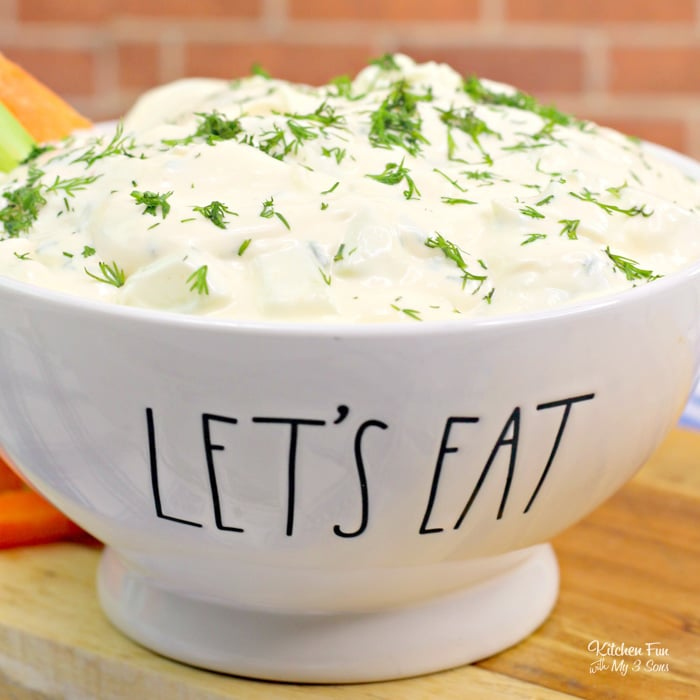 Cucumber Dill Dip is a simple, zesty dip that's perfect for spring gatherings. It's the foolproof choice when you need something for a BBQ in a hurry.