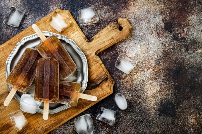 Rum and Coke Popsicles