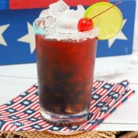 Talk about a fun drink for 4th of July, this American Margarita is it.