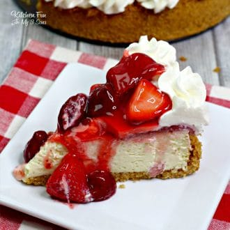 This is the best recipe ever for a homemade Strawberry Cheesecake!