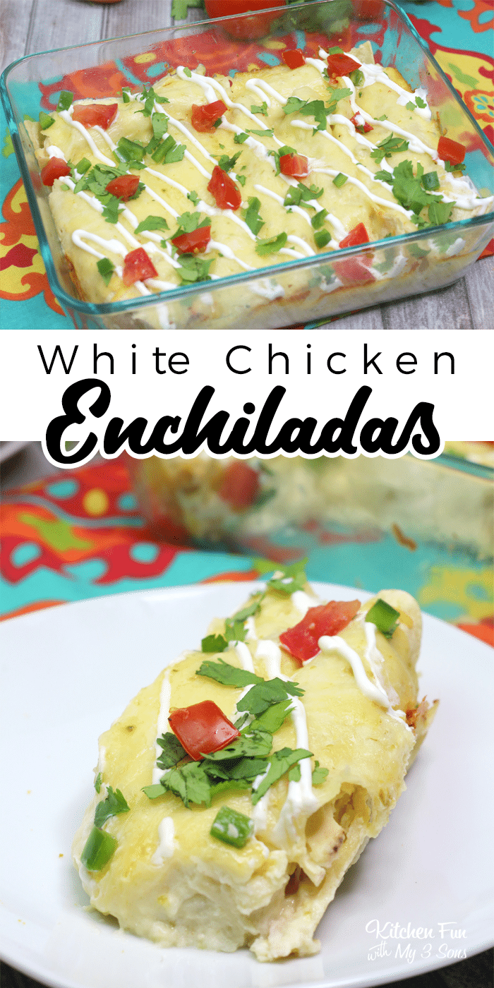 Are you crazy for enchiladas? Wait until you try these White Chicken Enchiladas made with a pre-cooked rotisserie chicken.