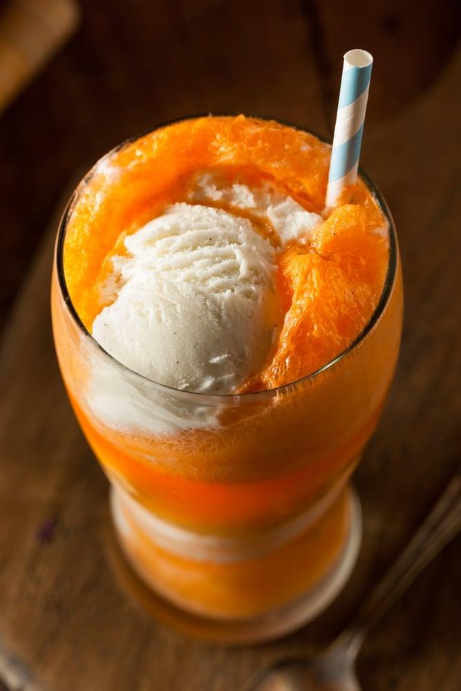 Boozy Creamsicle Float