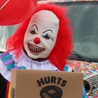 Creepy Clowns Deliver Donuts