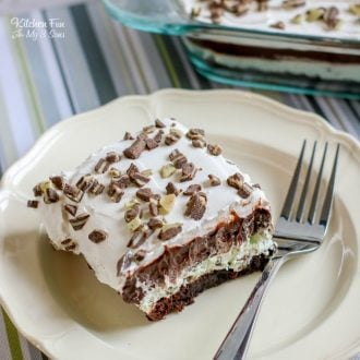Andes Mint Brownie Lush is the most amazing combination of brownies, peppermint and Andes mints. If you're a mint fan this is going to be a favorite.