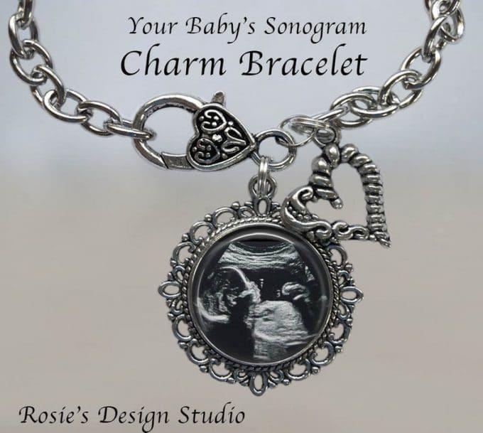 Baby Sonogram Fancy Charm Bracelet