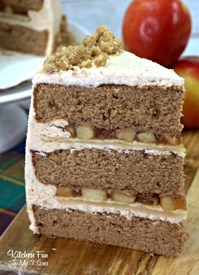 Apple Pie Cake is a yummy combination of moist cinnamon cake and apple pie. The best of both worlds!